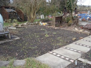 This is the veg bed before.